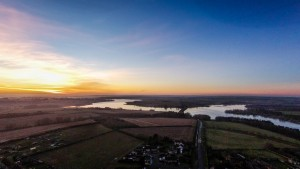 Drone Sunset over Holct